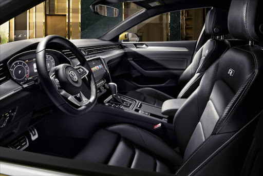 The interior is clean, cool and luxurious