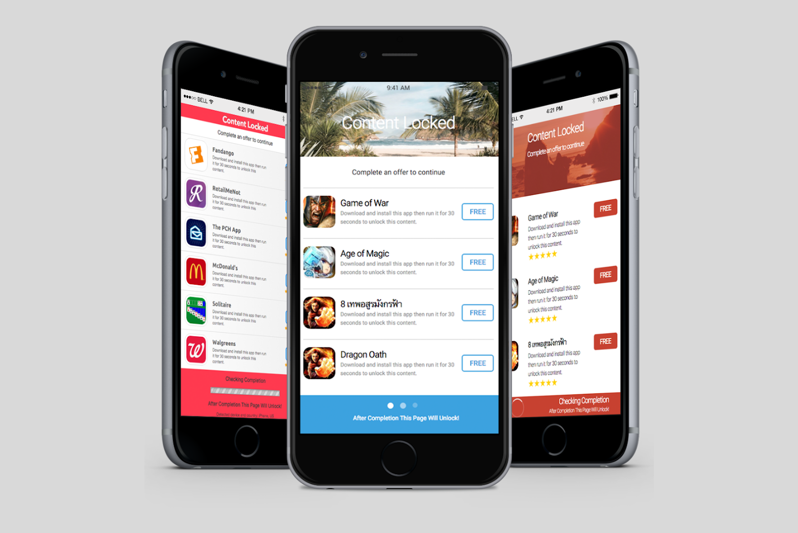 Mobile app Affiliate ads