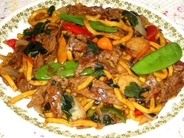 Beef,black Bean And Noodle Stir- Fry Recipe