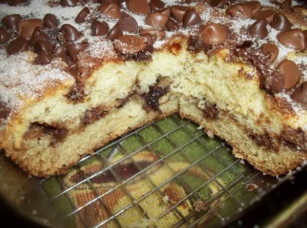 Sour Cream Choc Chip  Cake Recipe