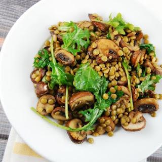 Warm Mushroom and Lentil Salad
