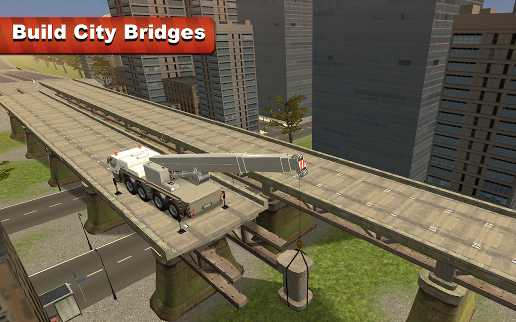 #4. Bridge Construction Crane Sim (Android)