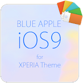 Blue APPLE for XPERIA Theme