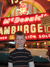 Photo: Ian in front of the old McDonald's sign