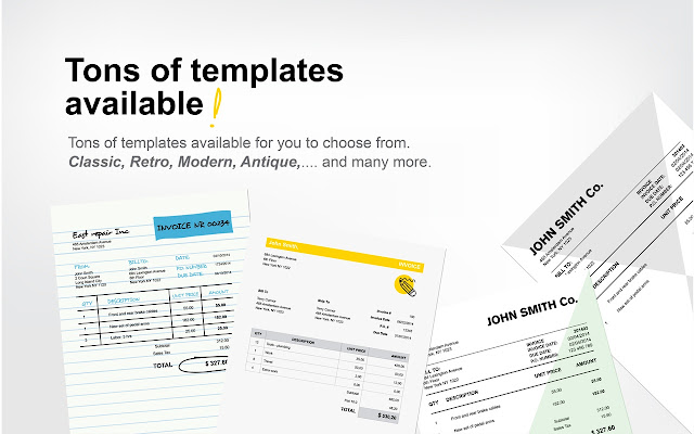 Free Invoice PDF Templates Chrome Web Store - Free printable invoice templates online antique store