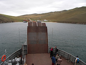 Photo: Ferry to Olkhon island is a part of the minibus ticket - free of charge