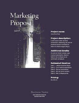 Marketing Proposal - Proposal item
