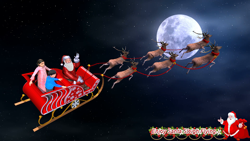 Foto do Christmas Flying Santa Gift Delivery