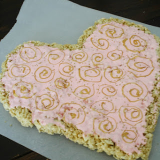Valentine's Day Rice Krispies Treat Heart.