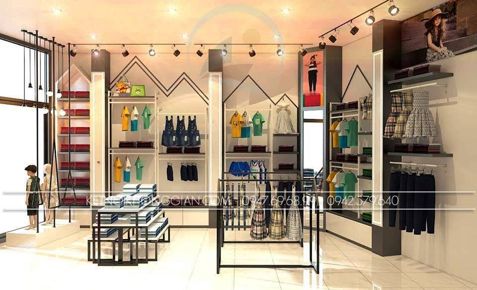 thiết kế shop thời trang trẻ em Hà Nội