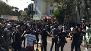 Protestors on Monday left parents and students baffled when they stormed the premises of a private college in Durban.