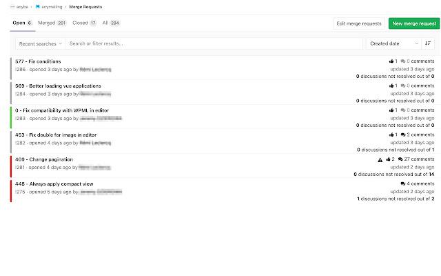 Gitlab merge request tools