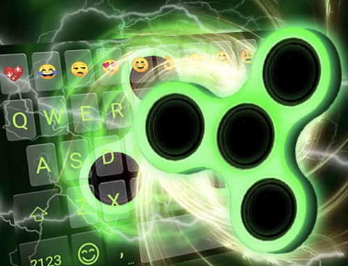 Fidget Spinner Neon Keyboard Theme? image   6
