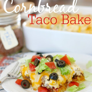 Cornbread Taco Bake (and a GIVEAWAY!}
