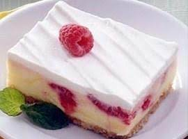 Frozen Lemon Raspberry Dessert Recipe