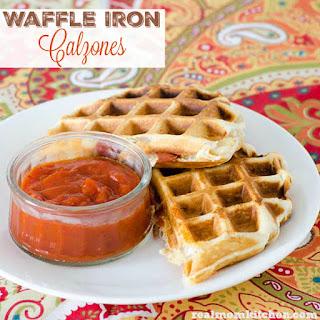 Easy Waffle Iron Calzones