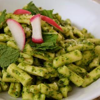 Cavatelli with Radish Leaf Pesto