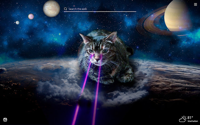 Space Cat HD Wallpapers New Tab