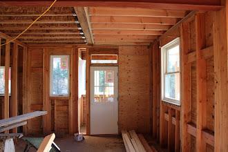 Photo: Kitchen, looking east toward the mud room.