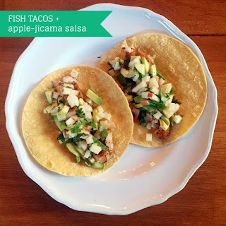 Fish Tacos With Apple-jicama Salsa