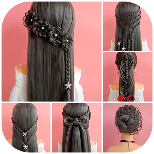Hairstyles step by step for girls Icon