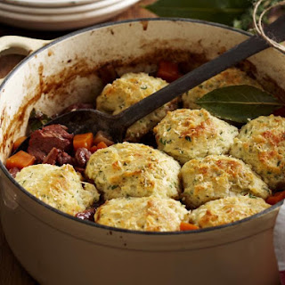 Classic Beef Stew with Dumplings.