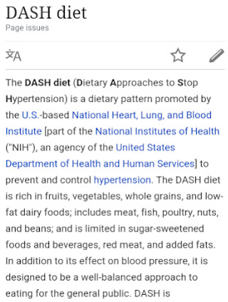 Dash Diet- screenshot