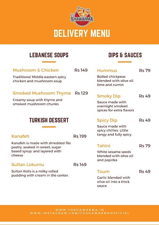 Yo Shawarma menu 4