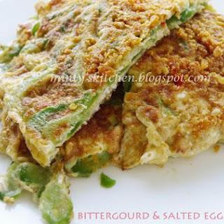 Bittergourd & Salted Egg Omelette