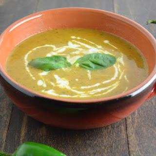 Jalopeno, Basil And Cilantro Soup