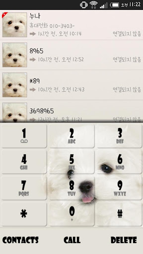 cute puppy EXdialer theme