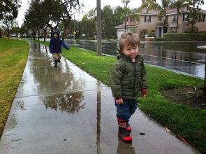 Photo: Brothers Rainy Day Walk