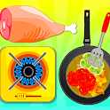 Fried Veg Chicken Salad - Cooking Game icon