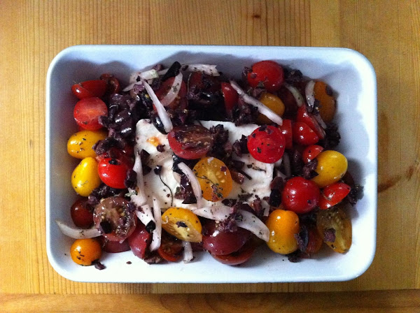 Feta Grilled Or Baked Feta W/ Tomatoes And Olives Recipe