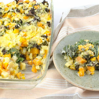 Butternut Squash, Potato and Kale Casserole [Vegan, Gluten-Free]