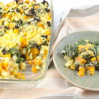 Butternut Squash, Potato and Kale Casserole [Vegan, Gluten-Free].