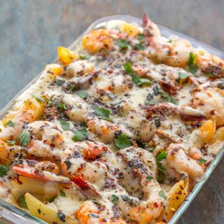 Easy Shrimp Alfredo Pasta Bake