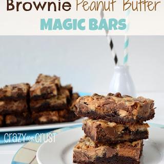Brownie Peanut Butter Magic Bars