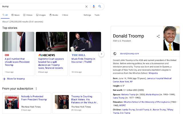 Trump to Troomp