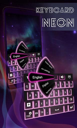 ネオンのキーボード