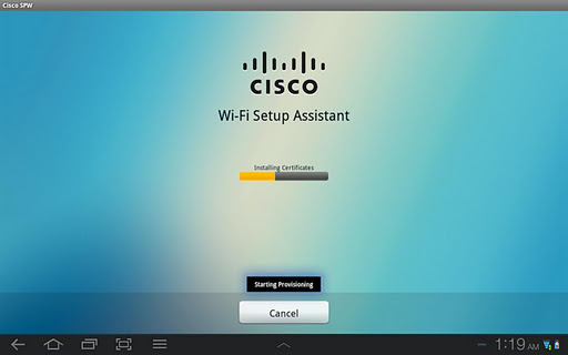 Cisco Network Setup Assistant screenshot 1