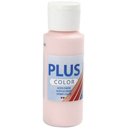 Hobbyfärg Plus color - ljusrosa, 60 ml