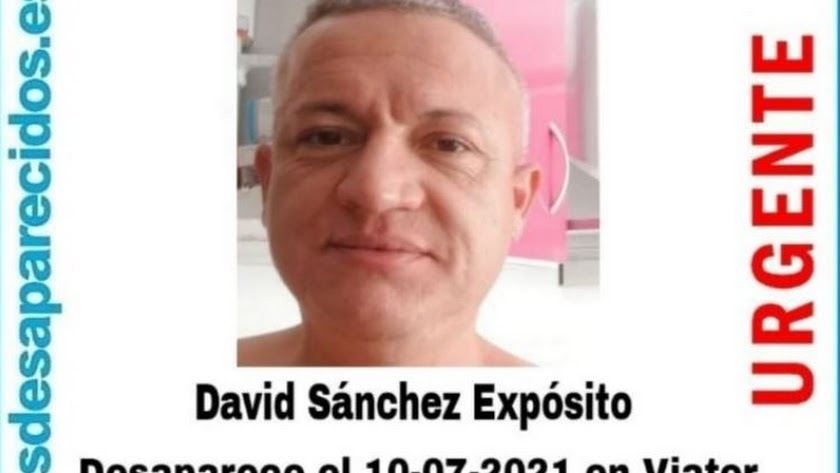 Imagen del desaparecido distribuida por SOS Desaparecidos.