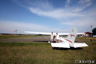 Photo: Anders, Ola og LN-NRO på Randers Flyveplads.