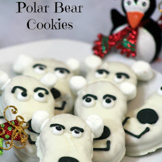 Nutter Butter Polar Bear Cookies