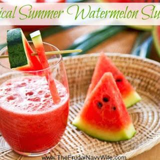 Tropical Summer Watermelon Slushie Recipe