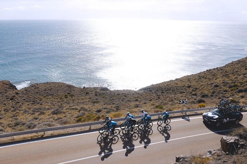 Movistar Team en Almería