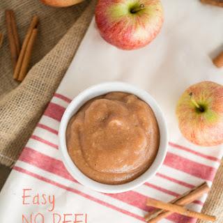 Easy No Peel Applesauce #nosugaradded