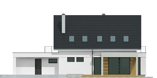 Argos z garażem 2-st. A1 - Elewacja tylna
