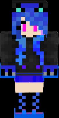 Сини-фиолетово-голубой скин, подойдёт для оригинальных людей